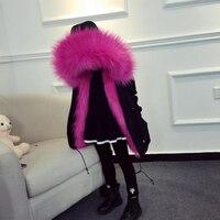 Girls Winter Coat Faux Fox Fur Liner Detachable Jackets Toddlers Children's Outerwear Baby Girls Thicken Warm Coat Parka For Boy