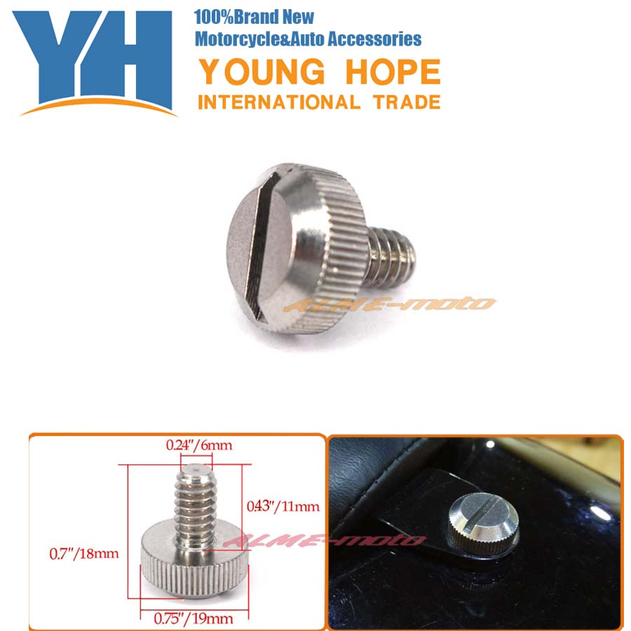 Motorcycle Accessories Stainless Steel Seat Bolt For Harley Sportster Softail Street 750 Road Ultra Glide Dyna Touring 1996-2016Motorcycle Accessories Stainless Steel Seat Bolt For Harley Sportster Softail Street 750 Road Ultra Glide Dyna Touring 1996-2016