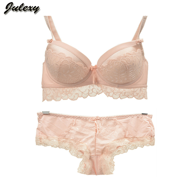 Julexy Brand sexy lace push up bra set for women intimate ABC  large size bra brief sets embroidery flounced noble underwear set