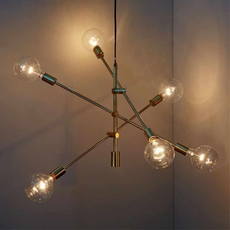 Северный постмодерн творческая индивидуальность Art Стиль железа подвесной светильник кафе ресторан отделка гостиной лампы Бесплатная доставка