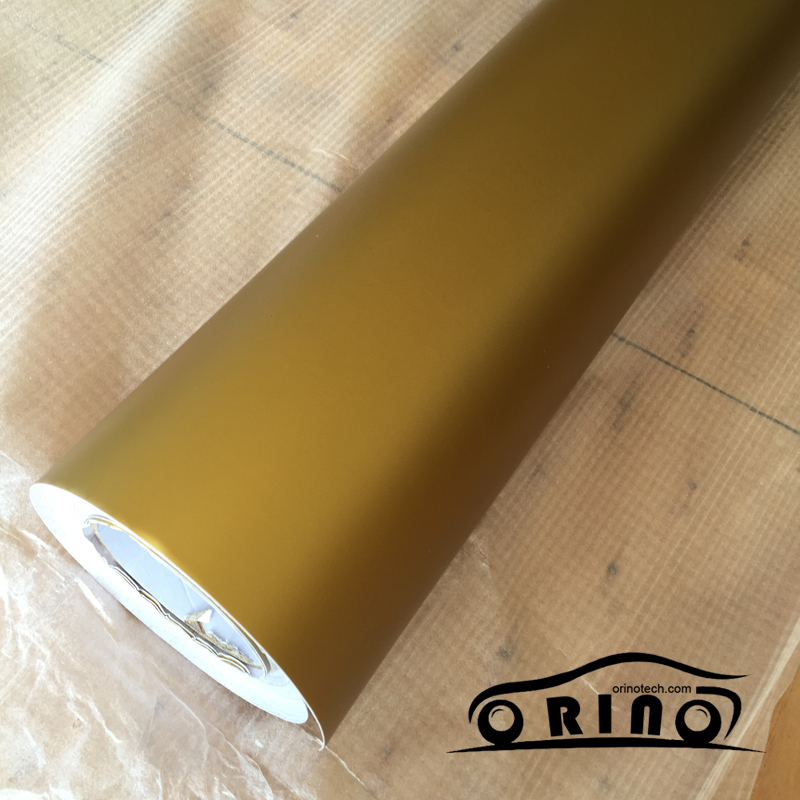 5 10 15 20 30X1 52M Matte Gold Vinyl Car Wrap Car Motorcycle Scooter DIY Styling