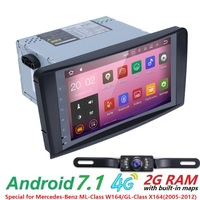 Android 7 1QuadCore NO DVD GPS Navi Stereo For Mercedes Benz ML W164 ML300 GL X164