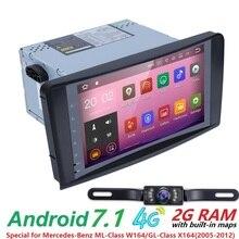 Android 7.1QuadCore NO-DVD GPS Navi Stereo for Mercedes Benz ML W164 ML300 GL X164 GL320 350 420 450 500 R W251 280 radio DVR BT