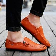 Для Мужчин's Мокасины Лоферы для вождения автомобиля Повседневная кожаная обувь воздухопроницаемая комфортная обувь Демисезонный Для мужчин ленивый обувь человек плоские легкие кожаные туфли