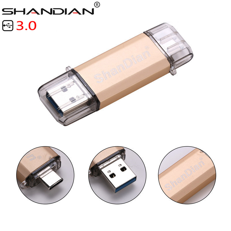 SHANDIAN USB 3.0 Promotions Type-C 3.1 OTG 32GB 64GB External Storage Memory Stick 16GB 64GB Mobile Computer USB Flash Drive