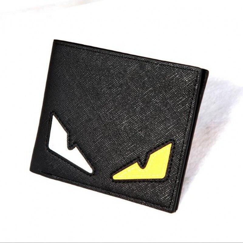 Fashion Anime Short Mini Eyes Designer Men Leather Wallets Purses Carteira Masculina Couro Portefeuille Homme 40 designer wallet with eyes