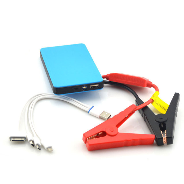 Mini power bank portable emergency jump starter Mul-tifunction emergency wholesale 12V portable jump starter for start gasoline