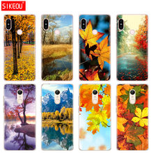 Silicone Cover phone Case for Xiaomi redmi 5 4 1 1s 2 3 3s pro PLUS redmi note 4 4X 4A 5A autumn yellow leaves gold(China)