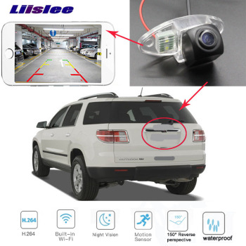 Car Rear View Parking Reverse Back Up wireless WiFi Camera for Saturn Outlook 2006~2010 For GMC Acadia MK1 Facelift 2013~2017