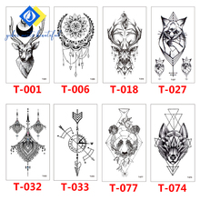 Hot 1PC Popular New 2019 Classic Black Tattoo Waterfproof Fake Temporary Sticker Body Small  Men Women
