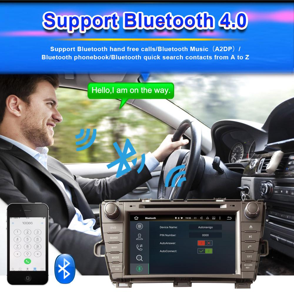Top Android 8.0 Octa Core 4GB RAM Car Radio Stereo GPS Navigation For Toyota Prius 2009- Left Hand Driving DVD Multimedia Player 10