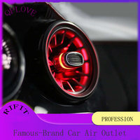 QPLOVE C series Car Accessories R 134A Air Outlet Fashion Design Cool Special Effects Light Turbine Appearance Modification