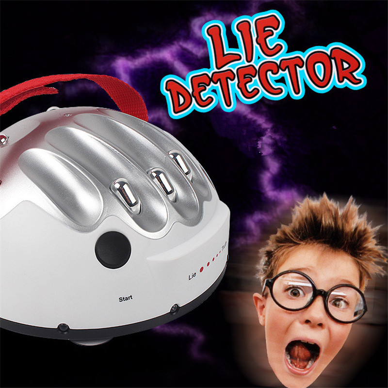 Polygraph Tricky Funny Adjustable Adult Test Micro Electric Shock Lie Detector Shocking Liar Truth Party Game Consoles Toy Gifts