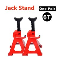 Pair Of 6 Ton Jack Stand Ratcheting Pair Heavy Duty Lift Lock Capacity Car Truck