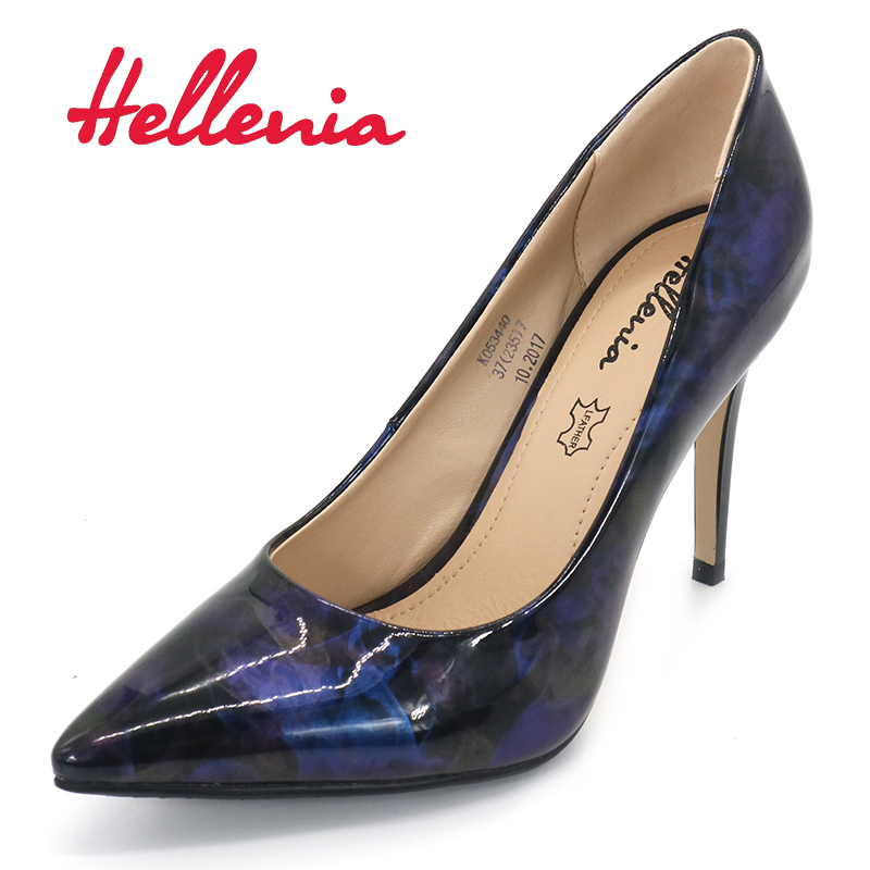 Hellenia 2018 New Women's  Spring Autumn pointed toe  Shoes Woman Ladies Pumps Sexy Thin High Heels Footwear Women wedding shoe 2017 new spring autumn big size 11 12 dress sweet wedges women shoes pointed toe woman ladies womens