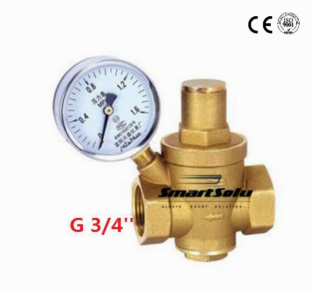 3/4 Brass DN20 water pressure regulator with pressure gauge,pressure maintaining valve,water pressure reducing valve prv3/4 Brass DN20 water pressure regulator with pressure gauge,pressure maintaining valve,water pressure reducing valve prv