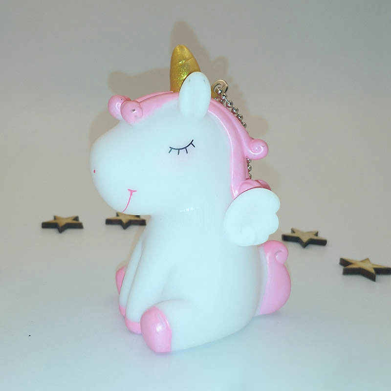 Unicorn Squishy จัมโบ้น่ารัก Mini สัตว์ Squeeze Squishy Kawaii เสียงเครื่องประดับ Unicorn พวงกุญแจของเล่นเด็กของเล่น