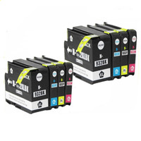 8 X Compatible For HP 932 933 Ink Cartridges 932XL 933XL OfficeJet 6100 6600 6700 7110