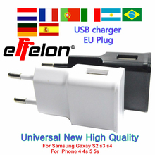 2017 Universal 5V 2A USB Charger EU Plug Travel Wall Charger Adapter Smart Mobile Phone Charger For iPhone/Samsung/Xiaomi Tablet