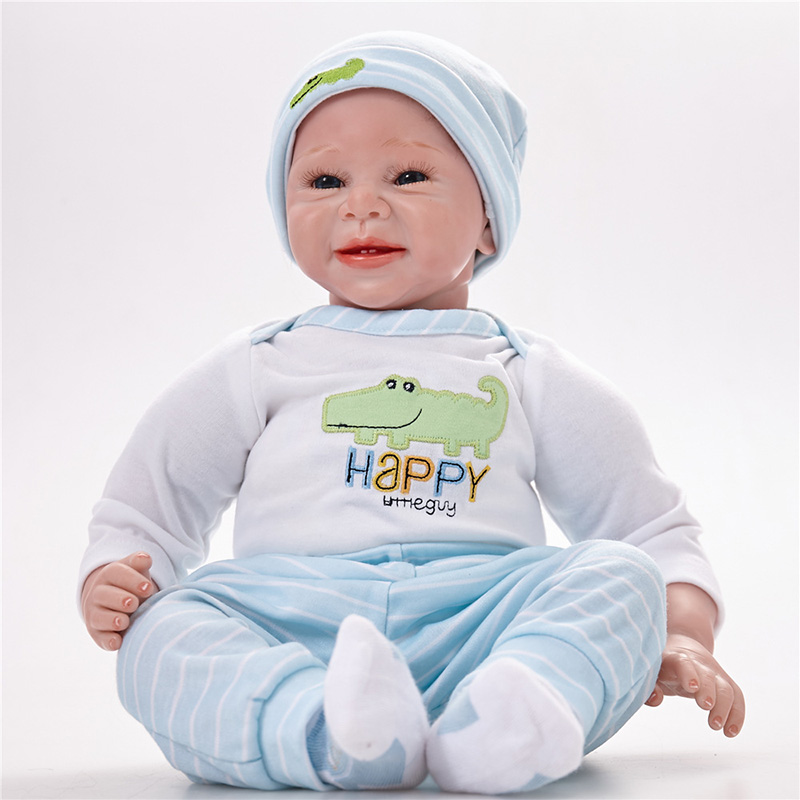 Silicone Reborn Dolls Toy For baby Newborn Baby Birthday Gift Adorable Kids Brinquedos Toy SB5507 Kids Toys Boys Bonecas-reborn 17 reborn dolls wear cartoon clothes baby toy realistic silicone bonecas newborn kids fashion birthday gift hot sale baby doll