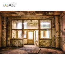 Laeacco Grunge Room Window Retro People Portrait Photography Backgrounds Customized Photographic Backdrops for Photo Studio