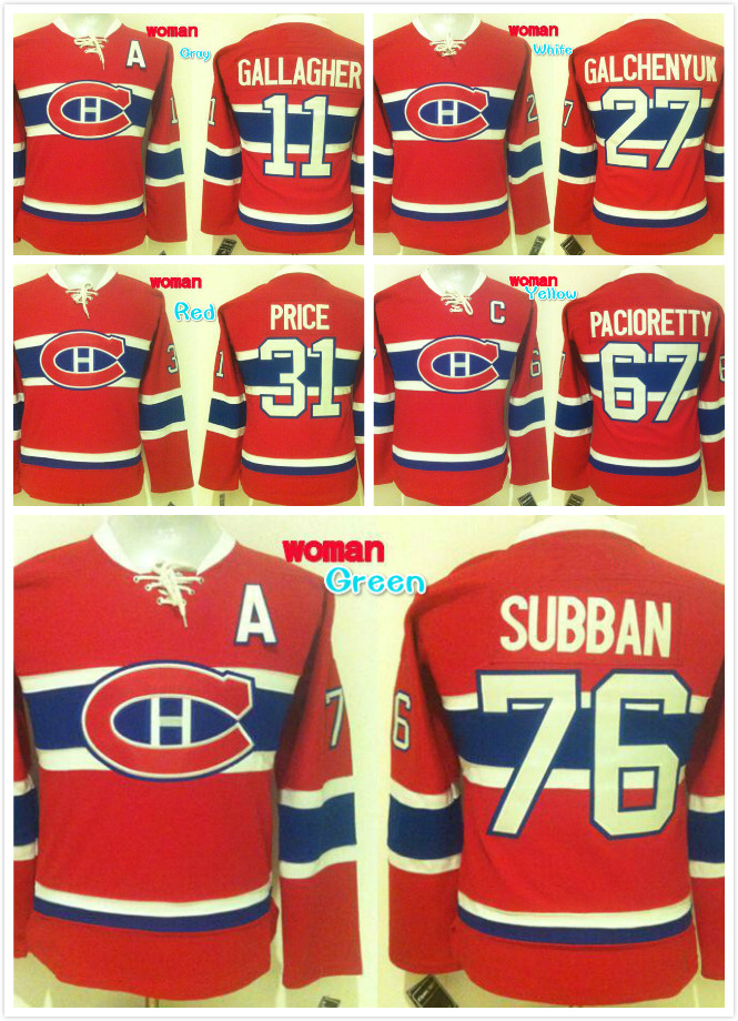 93edfc6bb ... Jerseys Quick delivery free shipping Women 11 Brendan Gallagher 31  Carey Price 67 Max Pacioretty 27 Alex Galchenyuk Embroidered Hockey Jersey  ...