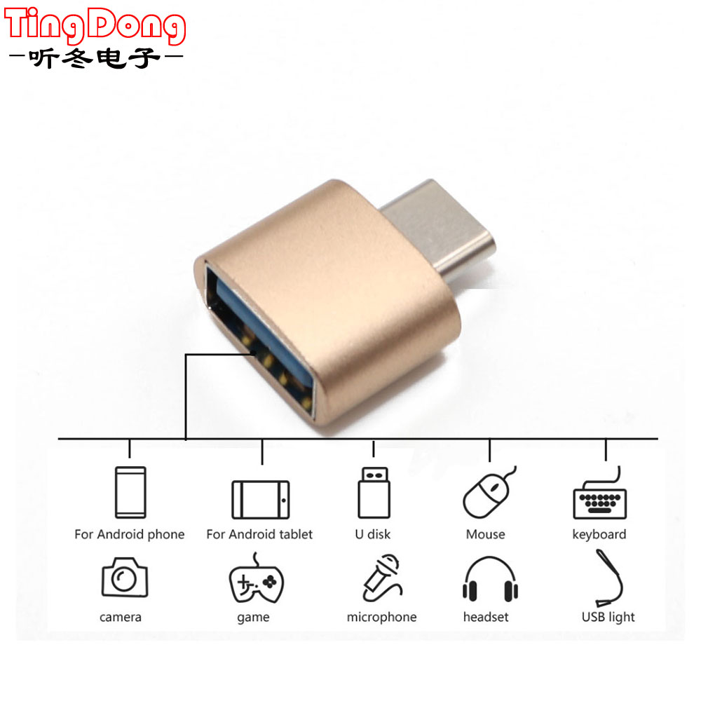 Type-C OTG 2.0 Hug Converter Type-C OTG Adapter For Android Phone For Samsung Cable Card Reader Flash Drive OTG Cable Reader