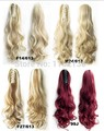 2014 1PCS Women Fashion Hair Extensions Hair Clip Long Curly Wavy Ponytail plastic claw ponytail 120G 22inch