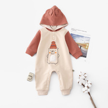 Autumn Newborn Unisex Clothes Winter Warm Hooded Long Sleeve Baby Boys Girls Rompers Soft Cotton Toddler Infant Jumpsuits Outfit mikistory fashion baby lion costumes long sleeves infant cosplay clothes cotton cute cartoon rompers hooded boys girls jumpsuits