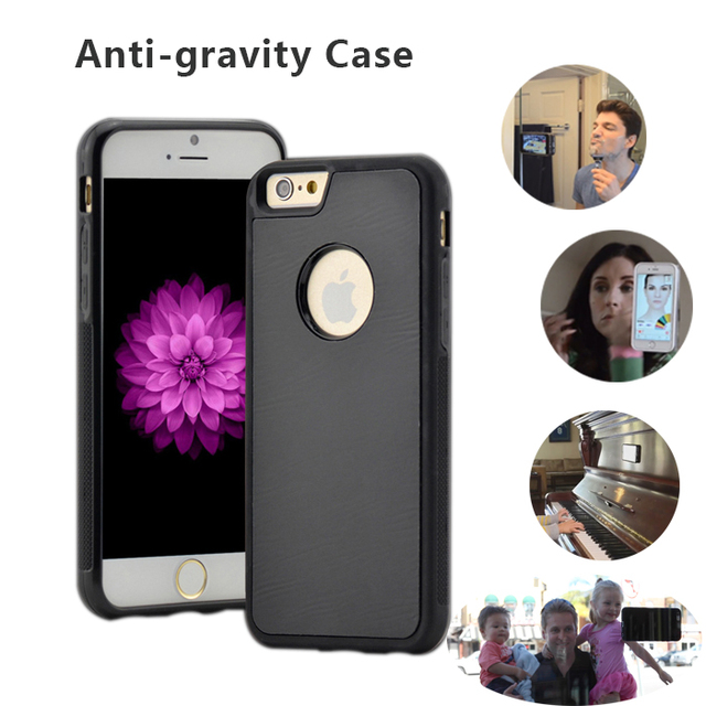 super popular 1f557 3058f US $1.99 |Fashion Magical Anti gravity Nano Suction Case For iphone 7 5 5s  6 6s plus Adsorbed Car Antigravity cover coque fundas capinha-in Fitted ...