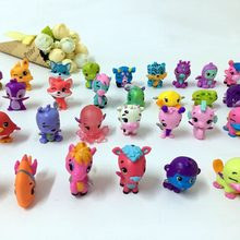 Cartoon Animals Egg Dolls Fly Horse Fish Hatching Magic Miniature Action Figures Mini Pet Shop Dolls Kids Toys 30/50/100 pcs/lot(China)