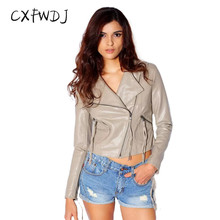 2017 Real Limited Cuero Mujer Women's Clothing Pu Locomotive Coat Music Rocking Motorcycle Heavy Slim Section Leather Jacket