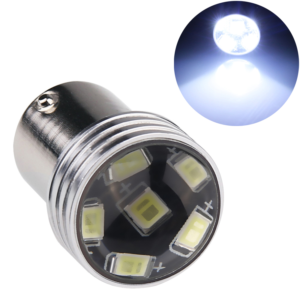 1PC p21w 1156 2835 led smd ba15s p21w s25 car Turn Signal Backup  Light  12v 1156 white Led brake stop Reverse Lamp With Lens
