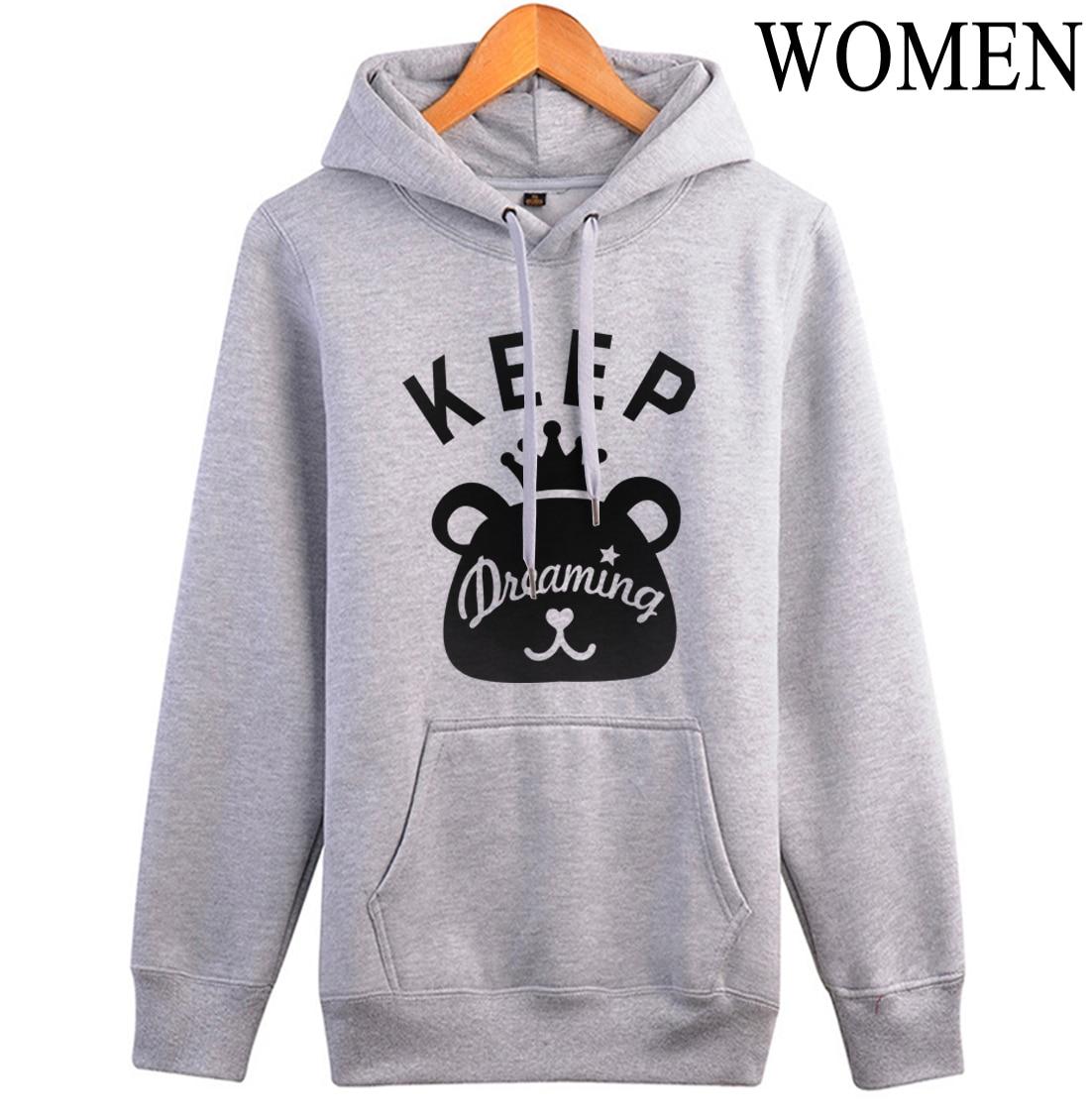 2019 autumn fashion long sleeve brand clothing Keep Dreaming kawaii Cartoon tracksuits women sweatshirts fitness fleece hoodies