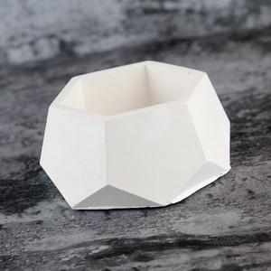 Image 3 - Geometric Concrete Planter Mold  Silicone Mould Handmade Craft Home Decoration Tool