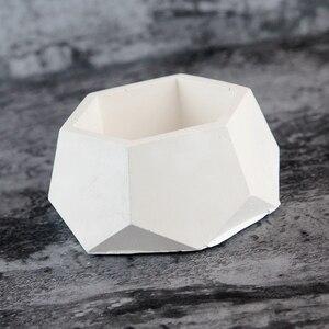 Image 3 - Geometryczne betonowe sadzarki formy silikonowe formy ręcznie dekoracja wnętrz (rękodzieło) narzędzie