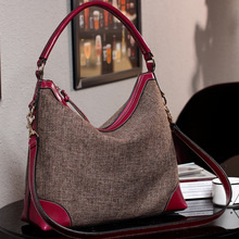 The original big European and American cotton leather bag Canvas Messenger Bag retro portable bag shoulder bag NEW