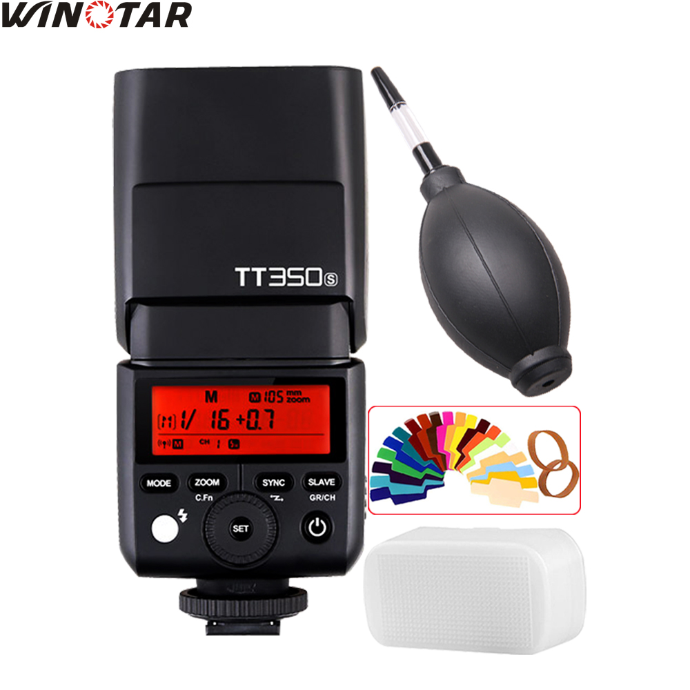 Godox Mini Speedlite TT350 TT350S Camera Flash TTL HSS for Sony Mirrorless DSLR Camera A7 Series A6000 Series A58 A99 A77II RX10 godox mini speedlite tt350s tt350n tt350c tt350o camera flash ttl hss for sony mirrorless dslr camera a7s a6000 a6500 series