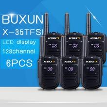 6 PCS KSUN X-35TFSI mini two way radio uhf 400-470mhz 128 channel portable walkie talkie Ham radio