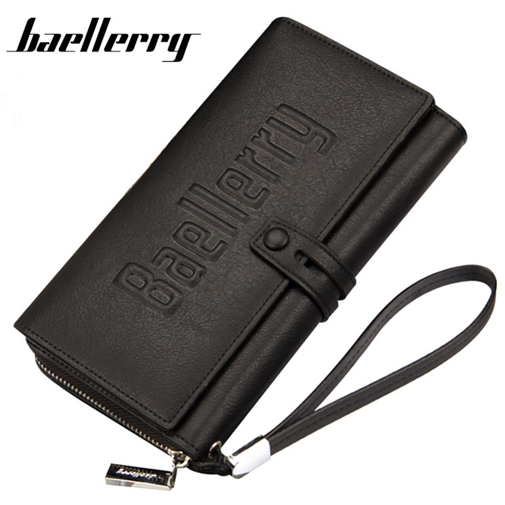 BAELLERRY Men's Wallet Long Wallets Man Clutch Purse PU Leather Wallet Male Carteira Cards Phone Holder HQB1892