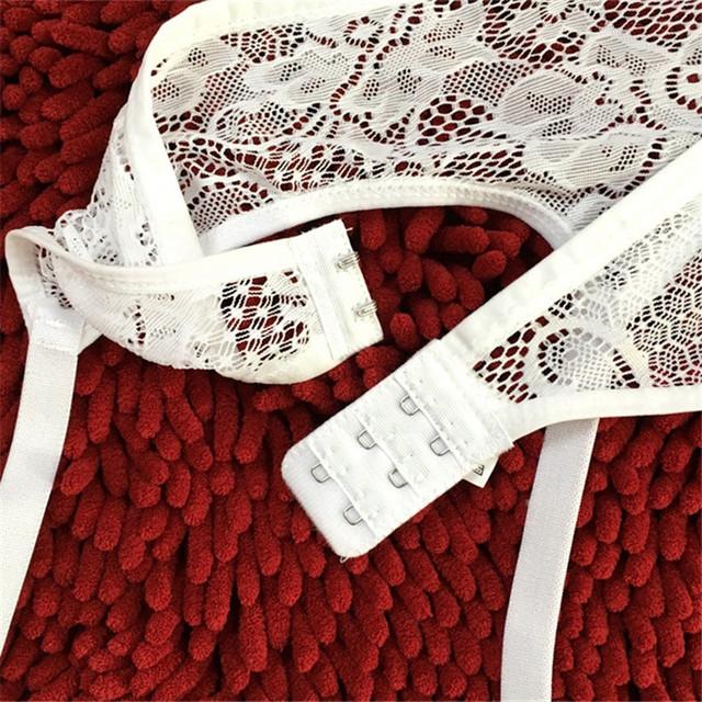 Sheer Lace Floral Waist Harness Garter