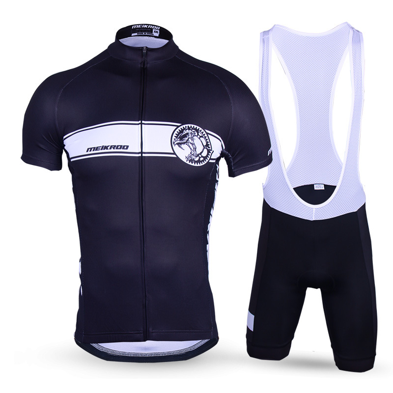 Mens Black Cool Mechanical Tyrannosaurus Cycling Sets Quick-Dry Short Sleeve Bike/Bicycle Jersey sets Breathable Ropa Ciclismo