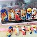 1 pack fox styling Cubierta Completa velocidad Pegajoso Pegatinas Nail Art sticker Decoraciones belleza tatuajes de Manicura Herramientas de uñas accesorios
