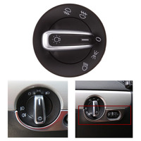 High Quality Black Car Headlight Switch Control Fit For Volkswagen Golf 6 Jetta Magotan