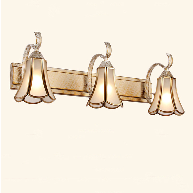 Bathroom Lighting Europe europe retro bathroom light luxury copper body bedroom makeup