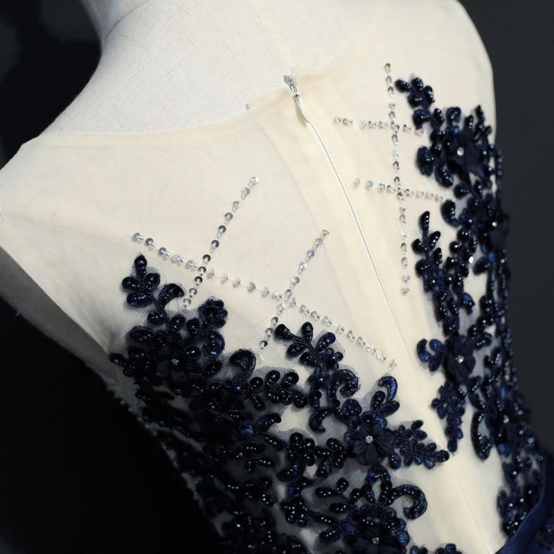 Mornarsko plava duga večernja haljina stranka Žene linija po mjeri - Haljina za posebne prigode - Foto 4