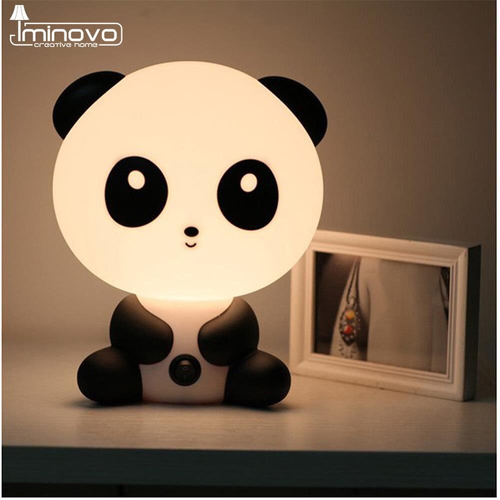 IMINOVO Children Night Light Animal Table Lamp Bedroom LED Desk Kids Novelty Lighting Gift Living Room E14 Bulbs