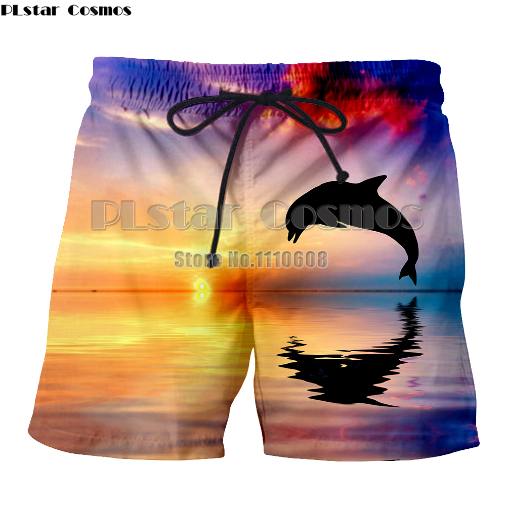 Yx Girl Dolphins 3d Print Shorts Women Men Elastic Waist Dolphin Beach Board Shorts Trousers Homme Fitness Shorts To Be Highly Praised And Appreciated By The Consuming Public Casual Shorts