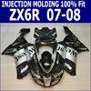 100 Fit For Kawasaki Ninja Fairing Kit Zx6r 2007 2008 07 08 Injection Fairings WEST DECAL