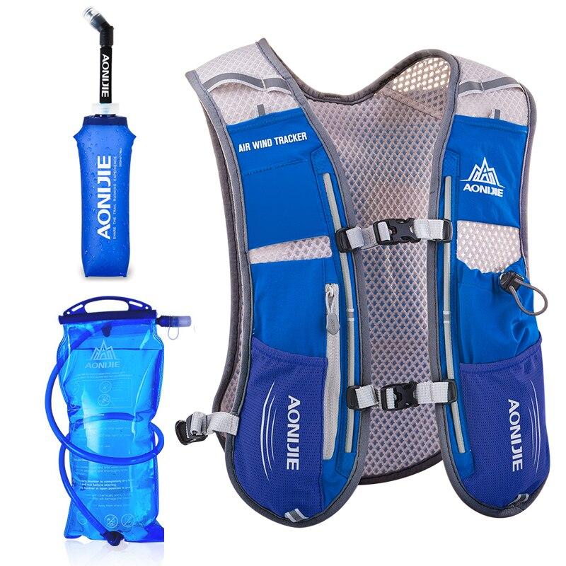 AONIJIE hombres mujeres Running mochila de deportes al aire libre Racing senderismo maratón Fitness hidratación Pack 1.5L 500 ml caldera